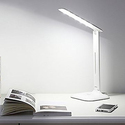 Saicoo LED Desk Lamp with 3 Lighting Modes (Cold / Natural / Warm), 5-Level Adjustable Brightness, Multiple Angles, Dual-Port USB Power Adapter Included