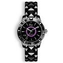 Dior VIII Black Dial Black Ceramic Ladies Watch