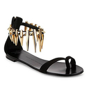 Giuseppe Zanotti Rock 10 Spiked Suede Flat Sandals