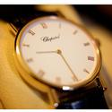Chopard Classic 18kt Rose Gold Case Brown Alligator Strap Ladies Watch