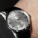 Jaeger LeCoultre Master Ultra Thin Black Leather Men's Watch