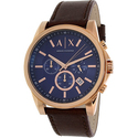 Armani Exchange Men's AX2508 Brown Leather Quartz Watch