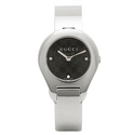 Gucci Stainless Black Dial Bangle Watch