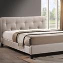 Button-Tufted Upholstered Platform Bed