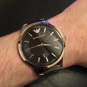 Armani Emporio Sportivo Black Dial Stainless Steel Men's Watch AR2457