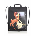 Givenchy Rave Medium Faux-Leather Bambi Tote