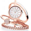 Anne Klein 女款时尚腕表+手镯套装