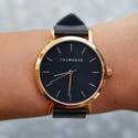The Horse Rose Gold/Black Band Watch