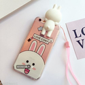 Lovely 3D Bear CHOCO Bunny Cony Strap Case Cover For iPhone