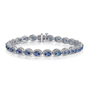 5.50 CTTW Genuine Tanzanite and Diamond Accent Bracelet by L'Artiste