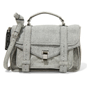Proenza Schouler PS1 Medium Leather-Trimmed Felt Shoulder Bag