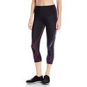 CW-X Women's 3/4 Stabilyx Tights, Black/Purple Gradation