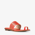 Michael Kors Sonya Perforated-Leather Sandal