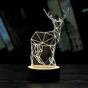 3D Illusion Art Lamp Acrylic LED Night Light Micro USB Table Desk Lamp