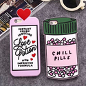 3D Cute Chill Pills/Love Potion Soft Rubber Case Cover For iPhone/Samsung