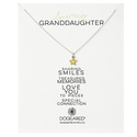 Dogeared Love My Granddaughter Gold Dipped Chain Necklace
