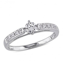 Amour 1/4 CT  Diamond TW Engagement Ring 10k White Gold