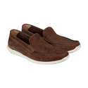Clarks Karlock Lane Mens Brown Nubuck Casual Dress Slip On Loafers Shoes