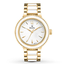Bulova Women's 98L173 Gold Tone and White Stainless Steel Watch