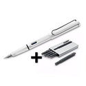 Lamy Safari Fountain Pen White + 5 Black Ink Cartridges