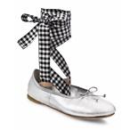 绑带芭蕾平底鞋