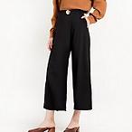 经典黑色阔腿裤