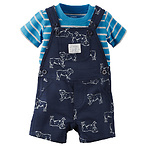 Boy's 2 Piece Overall Set