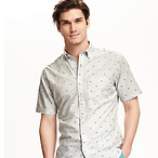 Slim Fit Classic Printed Shirt