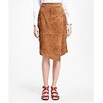 Aysmmetrical Suede Skirt