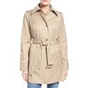 MICHAEL Michael Kors Snap Front Belted Trench Coat