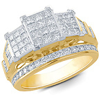 10K Yellow Gold Square Ring