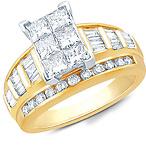 10K Yellow Gold Rectangle Ring