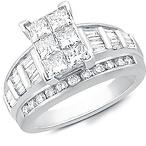 10K White Gold Rectangle Ring