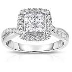 10K Diamond Square Ring