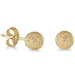14K Yellow Gold Stud Earrings