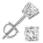 3/4 C Diamond Earrings
