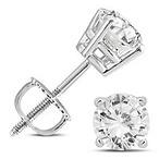 1 1/4C Diamond Earrings