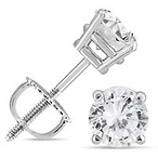 1C Diamond Earrings