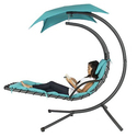 Hanging Chaise Lounger Chair Arc Swing Hammock