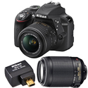 Refurbished Nikon D3300 w/ Lens and WiFi Adapter