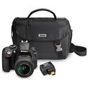 Refurbished Nikon D3300 w/ Lens, Case, WiFi Adapter
