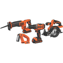 Black & Decker 20V MAX Li-Ion 4-Tool Combo Kit