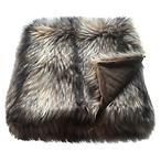 Raccoon Faux Fur Blanket