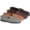 James Fiallo Men's Indoor/Outdoor Quilted Suede Loafer Slipper