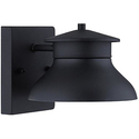 "Set of 2 Danbury LED Black 5"" High Outdoor Wall Lights"