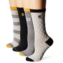 Timberland Women's Crew Boot Sock 4-Pack
