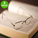 2-Pack Stylish Reading Glasses with Slim Case