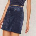 Cool It Down Velvet Corduroy Skirt