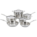 Cuisinart Chef's Classic Stainless 10pc Cookware Set