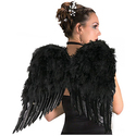 Rubies Costume Deluxe Black Feather Wings